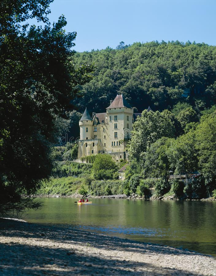 La Roque-Gageac, Dordogne, Frankreich lizenzfreies stockbild