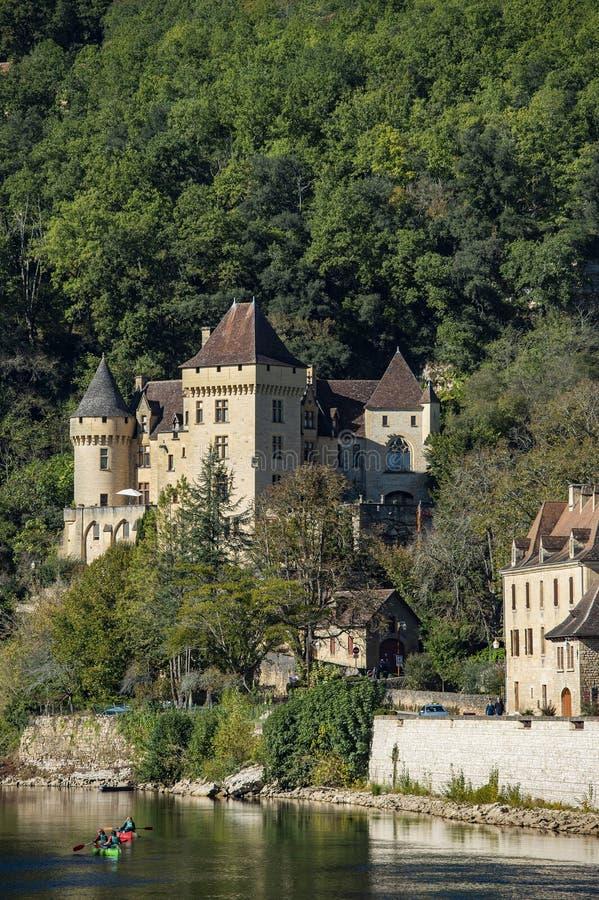 La Roque Gageac, un des villages les plus beaux de la France, région de Dordogne photos libres de droits
