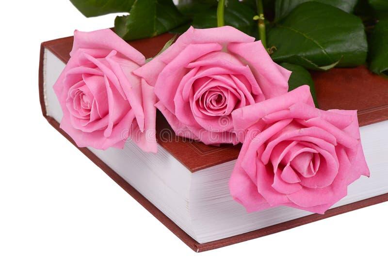 La rosa en el primer del libro imagenes de archivo