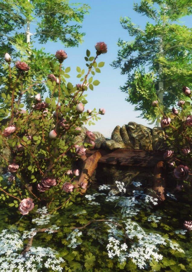 La rosaleda salvaje libre illustration
