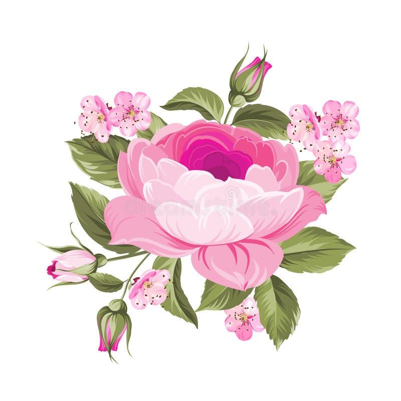 La Rose floreciente stock de ilustración