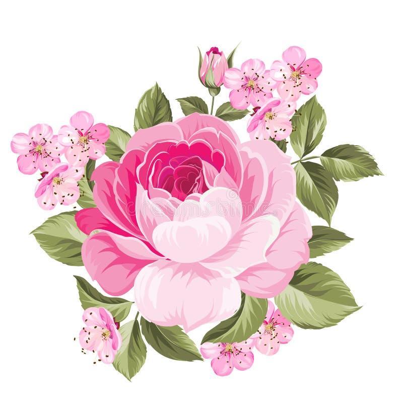 La Rose floreciente libre illustration