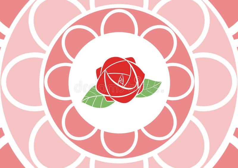La Rose modeló escena del papel pintado ilustración del vector