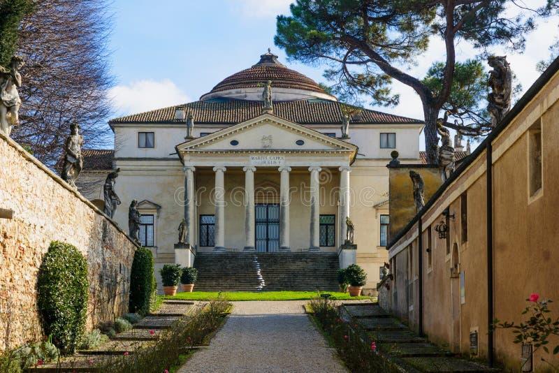 La Rotonda, Vicenza della villa immagine stock libera da diritti