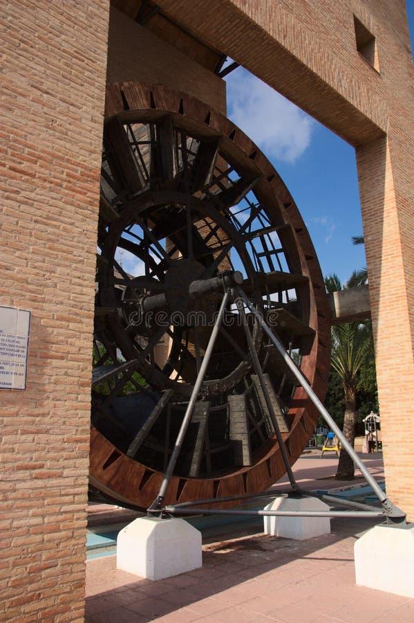 La roue d'eau de L& x27 ; Alcudia dans la région de la La Ribera Alta image libre de droits