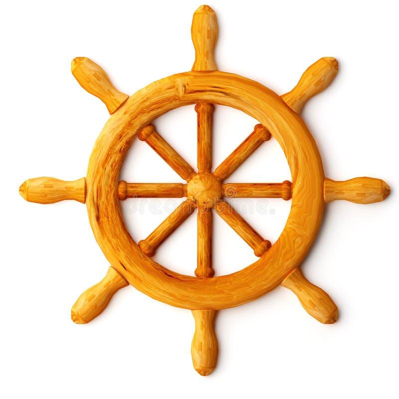 La roue du bateau images stock