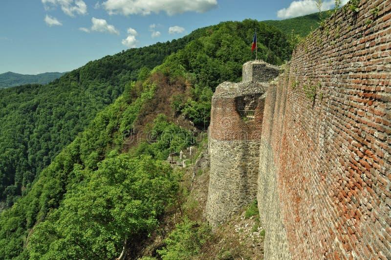 La Roumanie, château de ruines de Dracula images stock