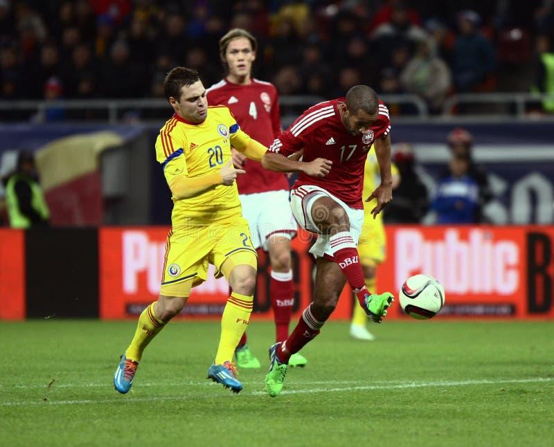 La Roumanie contre le Danemark photo stock