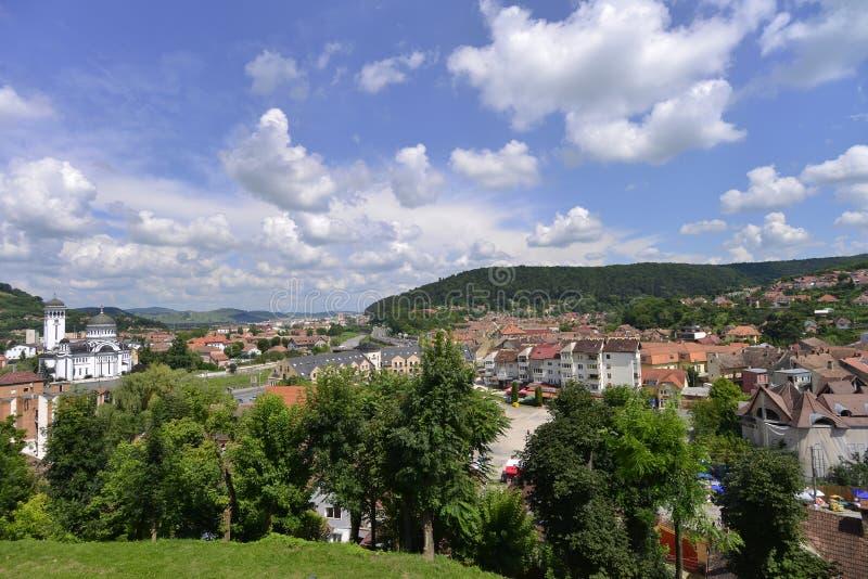 La Roumanie, vue de Sighisoara photos libres de droits