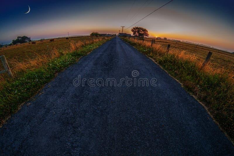 La route à la ferme photographie stock