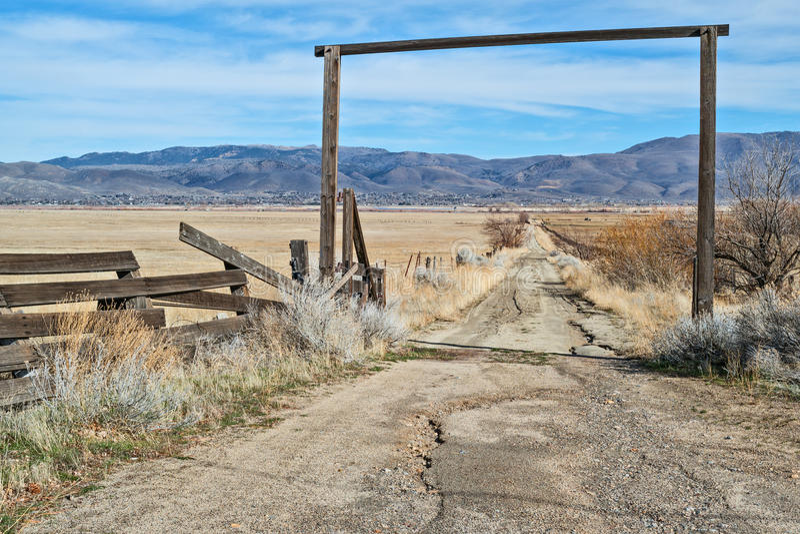 La route au ranch photo libre de droits