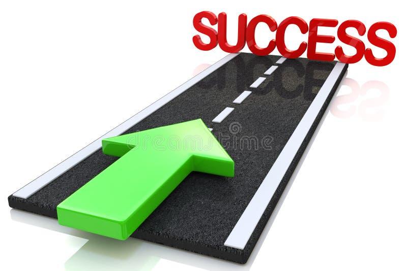 Route au succès illustration de vecteur