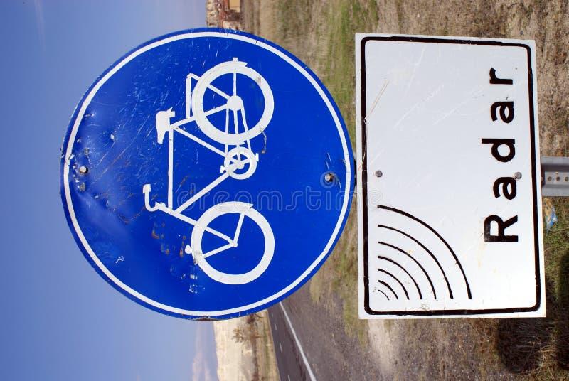 La route bleue signent dedans Cappadocia image libre de droits