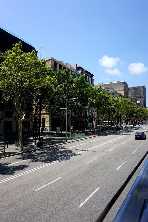 La route commune à Barcelone photo stock