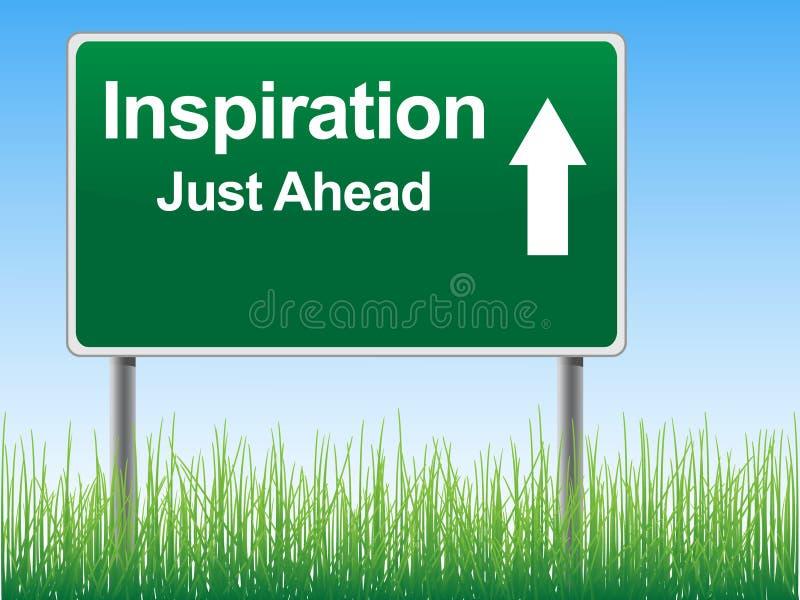 La route d'inspiration se connectent le fond de ciel. illustration libre de droits