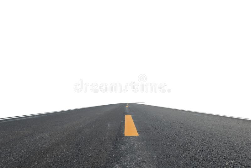 La route d'isolement sur le fond blanc photo stock