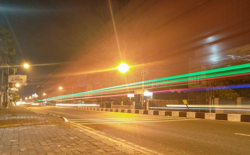 La route dans la ville d'Ungaran photo stock