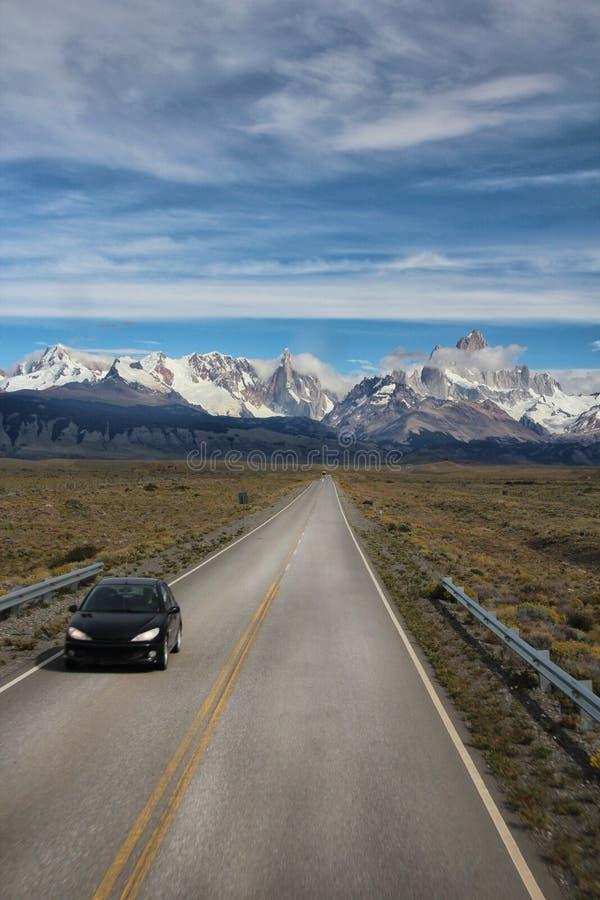 La route de l'EL Calafate à l'EL chalten image libre de droits
