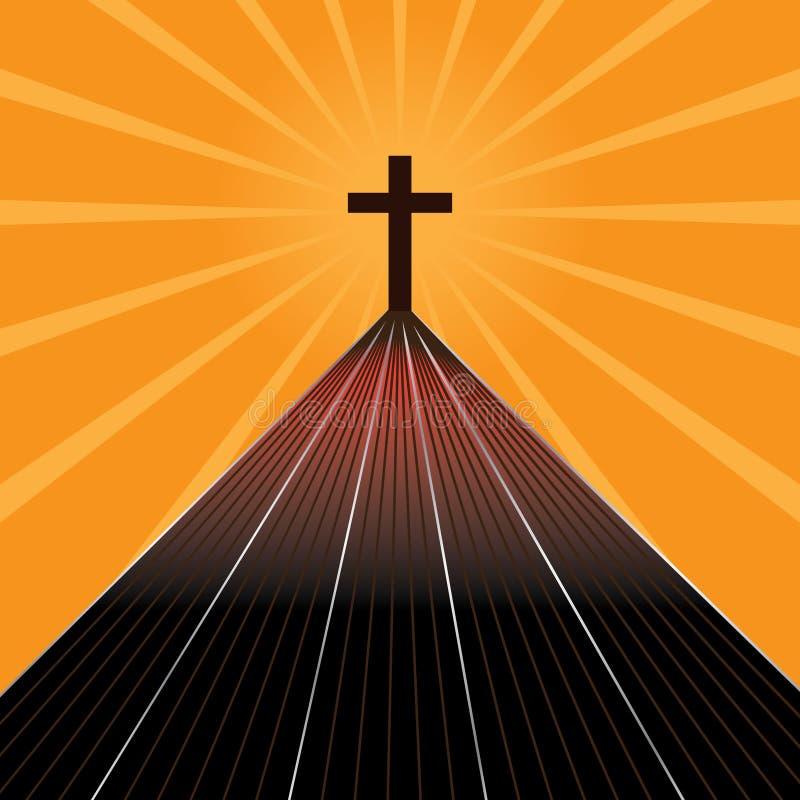 La route de la croix illustration de vecteur