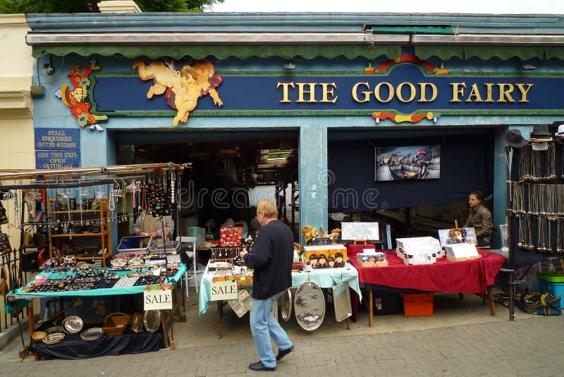 La route de Portobello se sauvent le marché photos stock