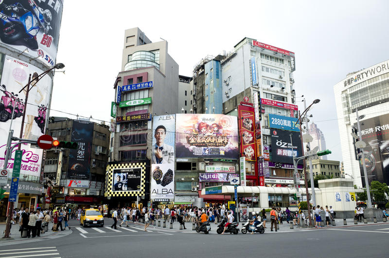 La route de Ximending photographie stock libre de droits