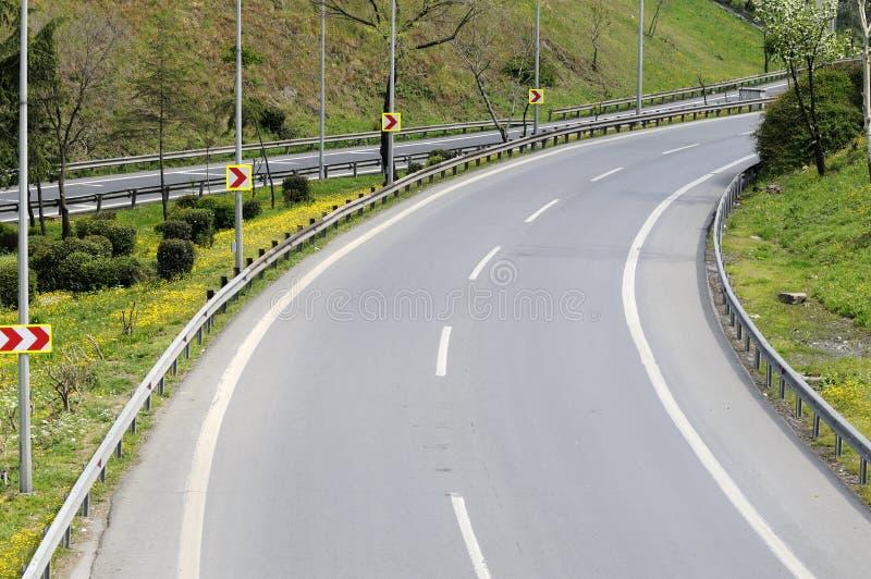 La route disparaît? photo stock