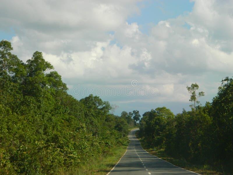 La route est longue images stock