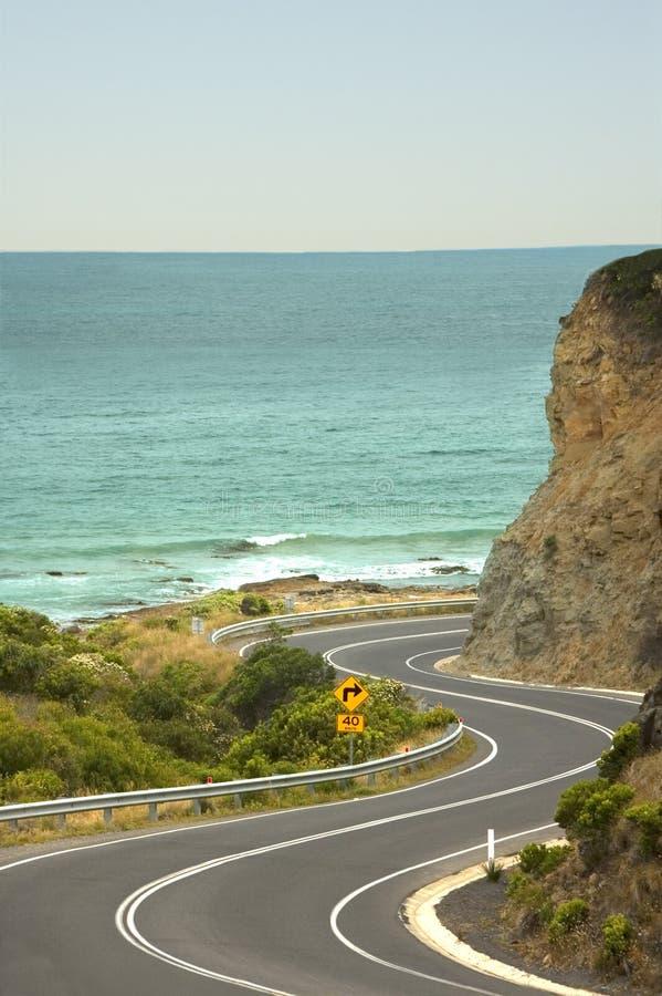La route grande d'océan - Australie images stock