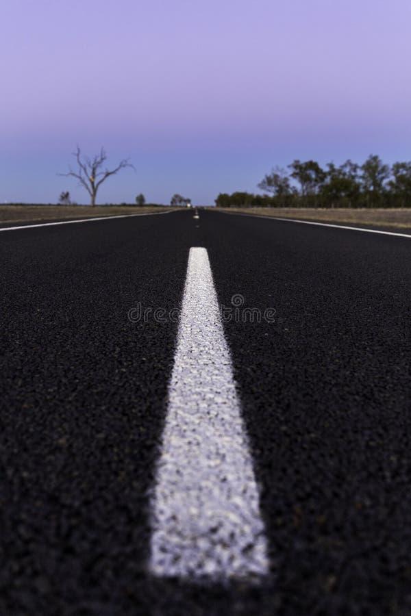 La route isolée à n'importe où image libre de droits