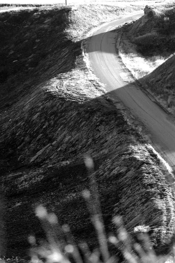 La route moins s'est déplacée photographie stock