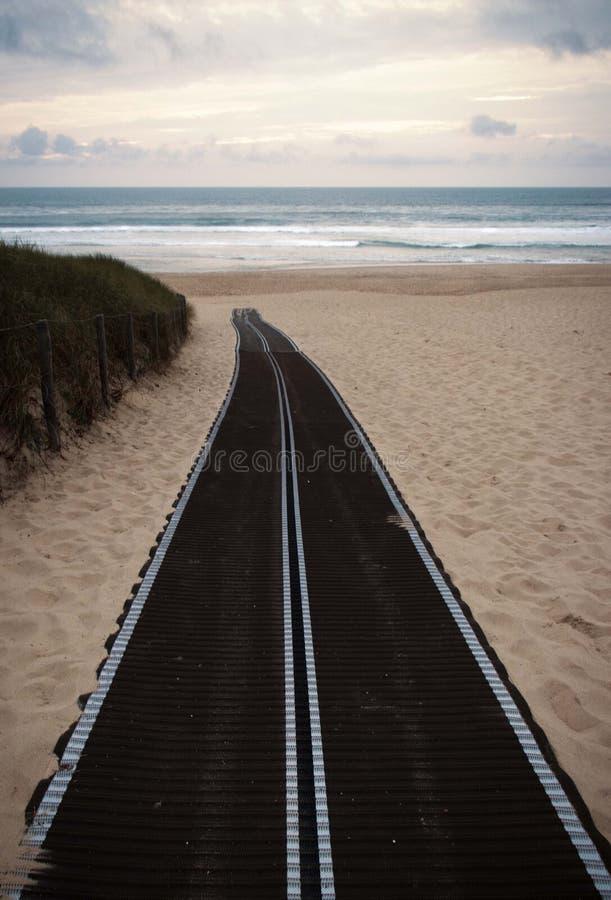 La route qui finit dans l'océan royalty free stock photography