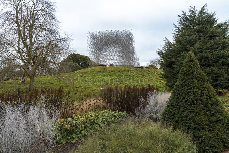 La ruche, jardins de Kew en hiver/automne images stock