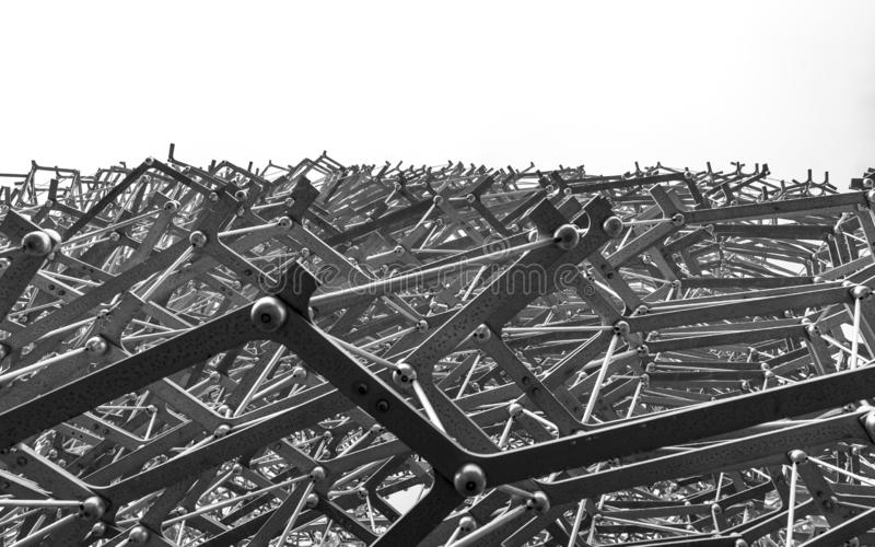 La ruche, jardins de Kew en hiver/automne image stock