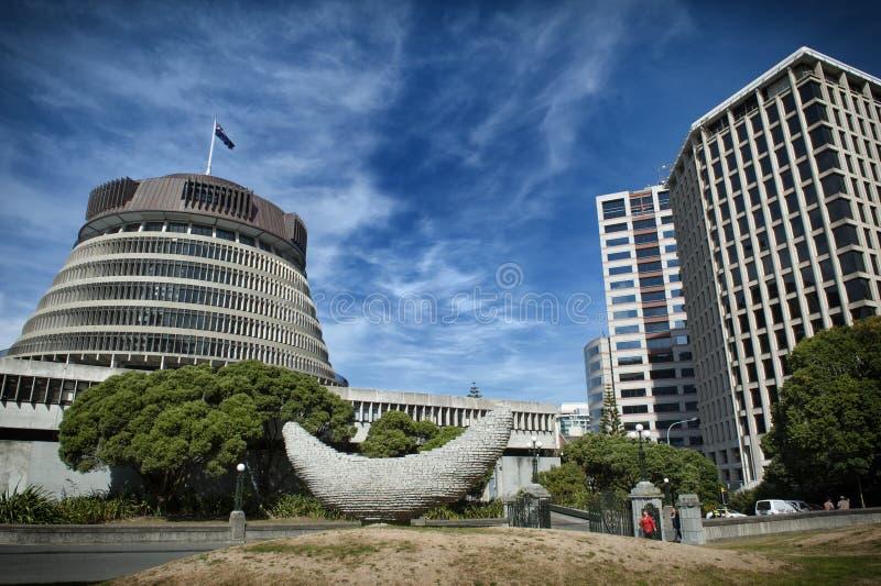 La ruche, l'aile exécutive des bâtiments du Parlement du Nouvelle-Zélande photos libres de droits
