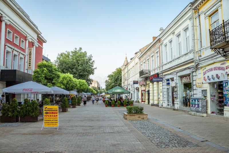 La rue à Ruse en Bulgarie photos stock