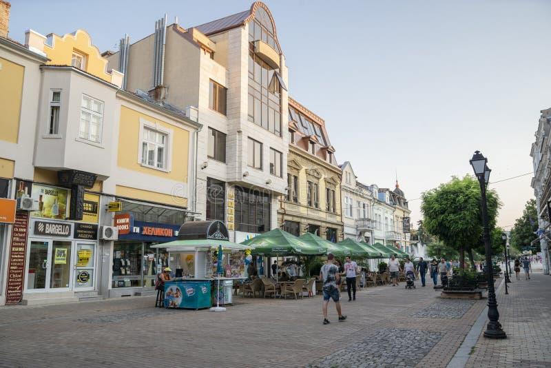 La rue à Ruse en Bulgarie image libre de droits
