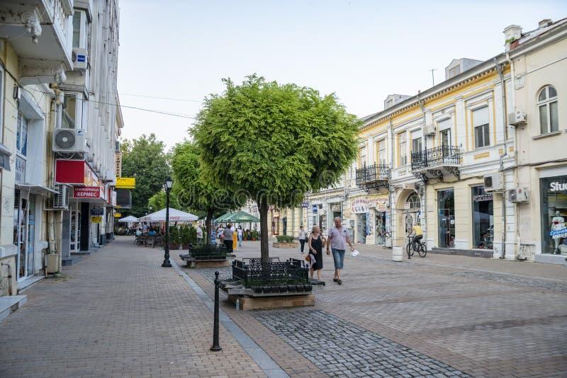 La rue à Ruse en Bulgarie images libres de droits