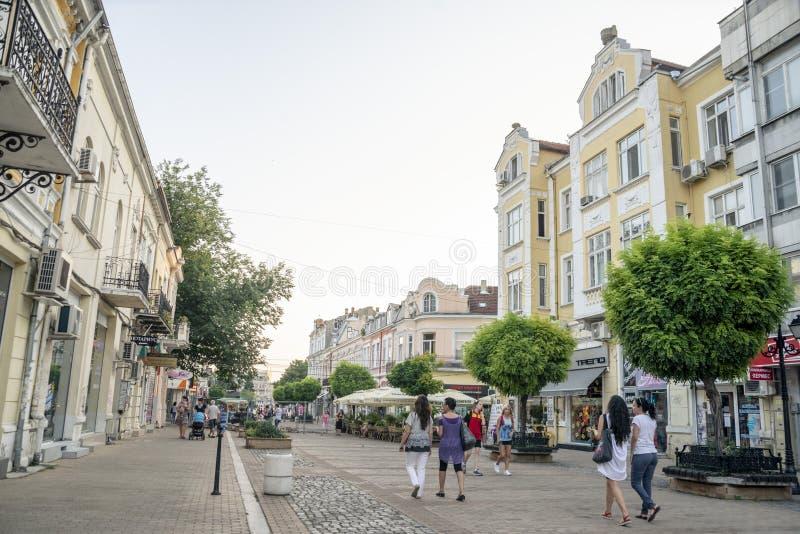 La rue à Ruse en Bulgarie photo stock
