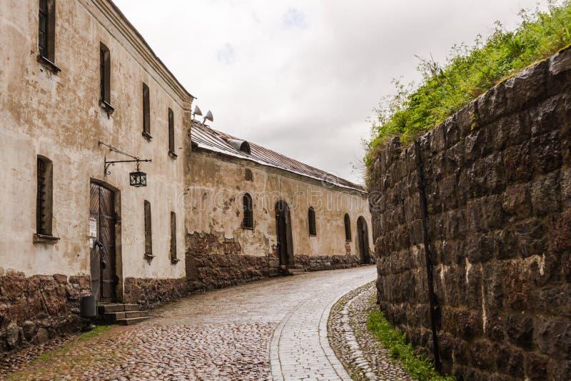 La rue dans le château image libre de droits
