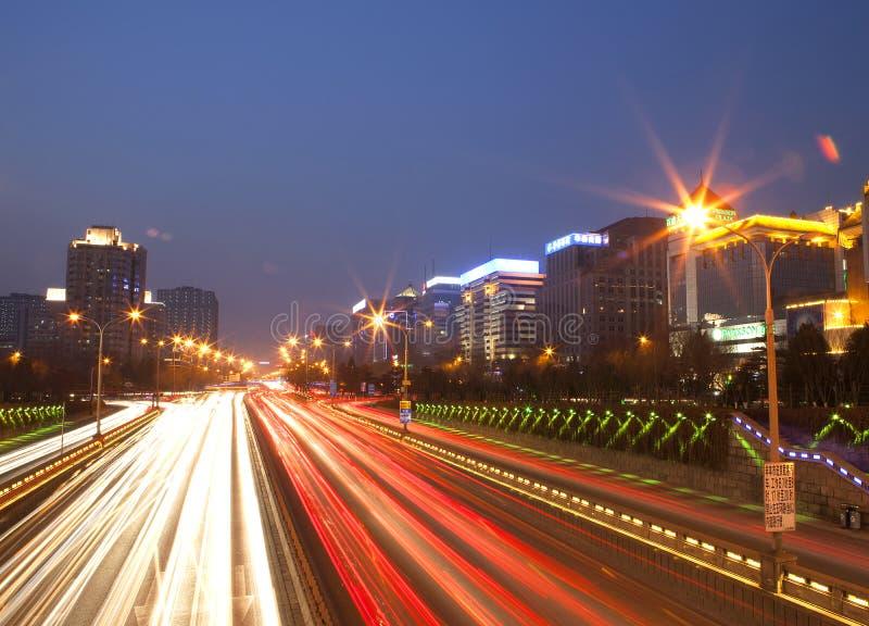 La rue de finances, Pékin photos stock