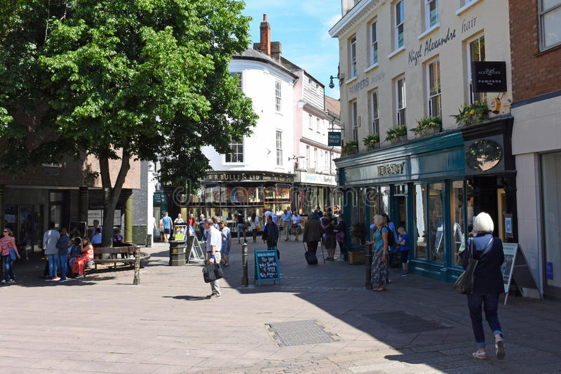 La rue de Londres, Norwich City centrent, la Norfolk, Angleterre photos stock