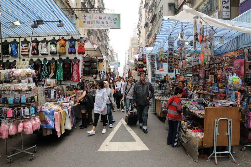 La rue des dames à Hong Kong images stock