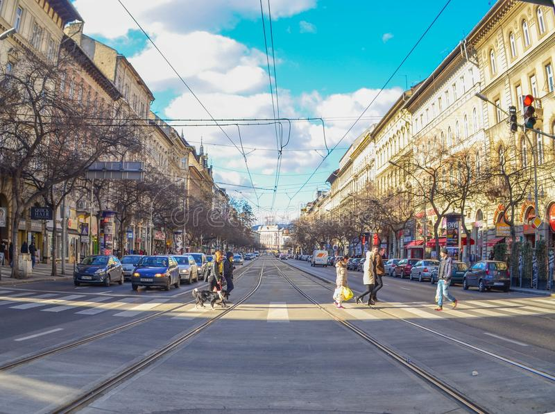 La rue en Hongrie photographie stock