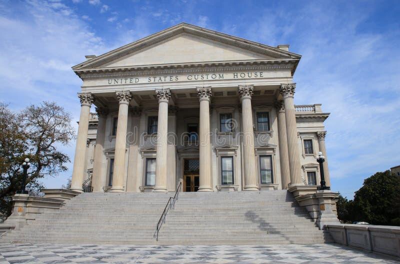 Sc de Charleston de bureau de douane des USA photographie stock libre de droits