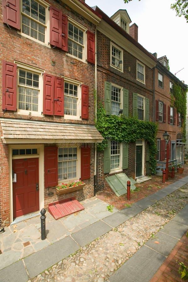 La rue résidentielle la plus ancienne de l'Amérique photos libres de droits