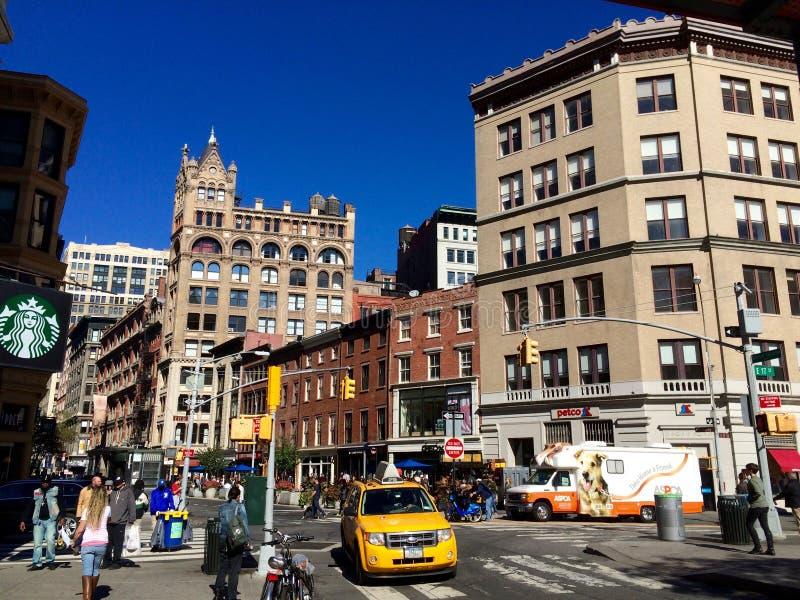 La rue s'activante de New York photo libre de droits