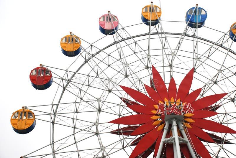 La rueda de ferris colorida fotos de archivo