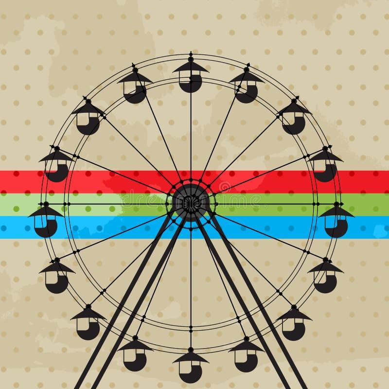 La rueda de la diversión ilustración del vector