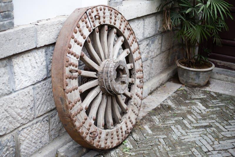 La rueda en China antigua imagenes de archivo
