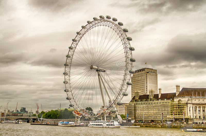 La rueda panorámica del ojo de Londres fotos de archivo